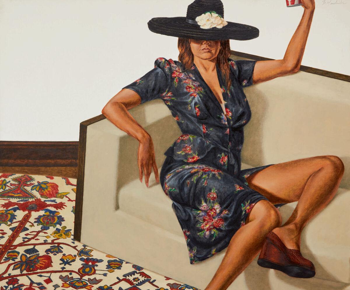 Barkley L. Hendricks, Jackie Sha-la-la (Jackie Cameron), 1975. Courtesy Sotheby's.