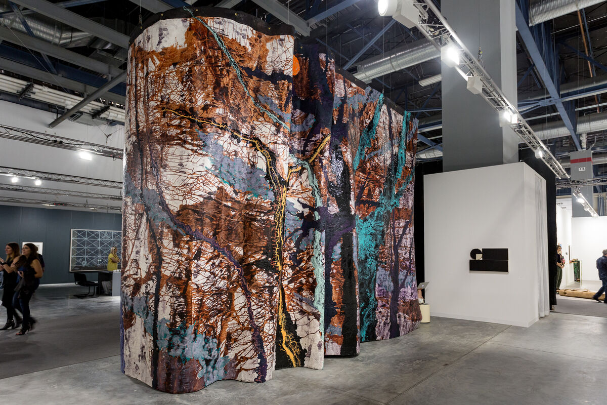 Installation view ofMaccarone's booth at Art Basel in Miami Beach, 2016. Photo by Alain Almiñana for Artsy.