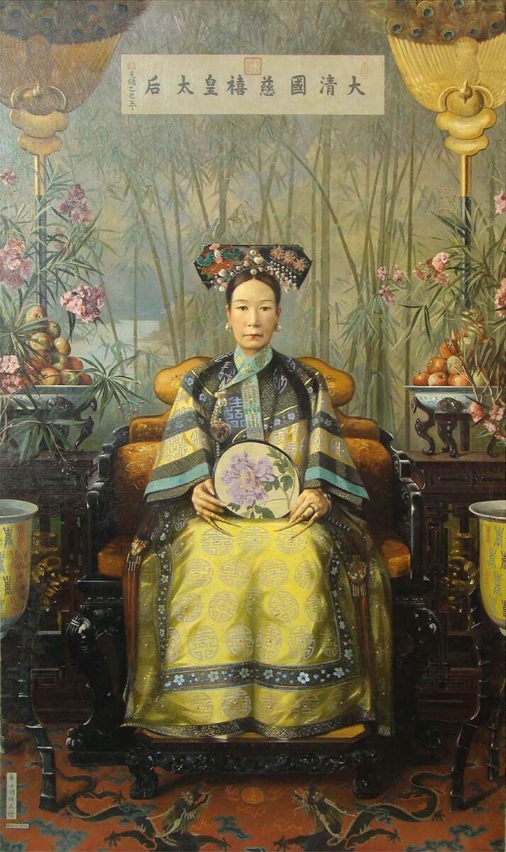 Hubert Vos,  Empress Dowager Cixi, 1906. Image via Wikimedia Commons.
