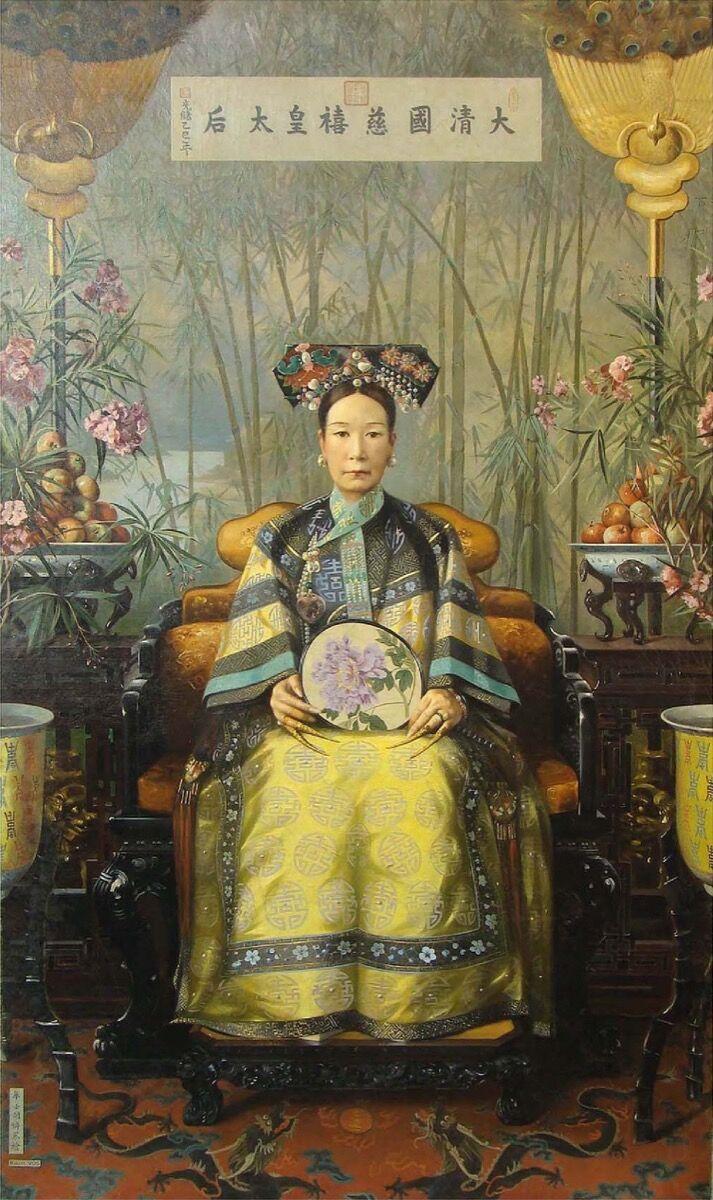 Hubert Vos, emperatriz viuda Cixi, 1906. Imagen a través de Wikimedia Commons.