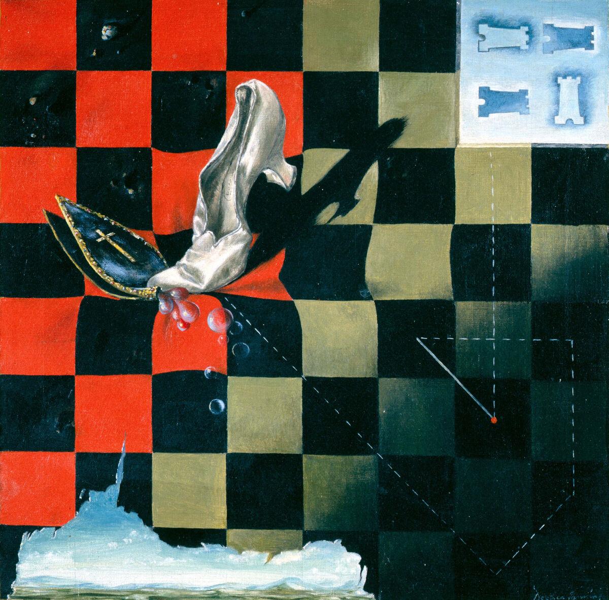 Dorothea Tanning, Endgame, 1944. © DACS, 2018. Courtesy of Tate Modern.