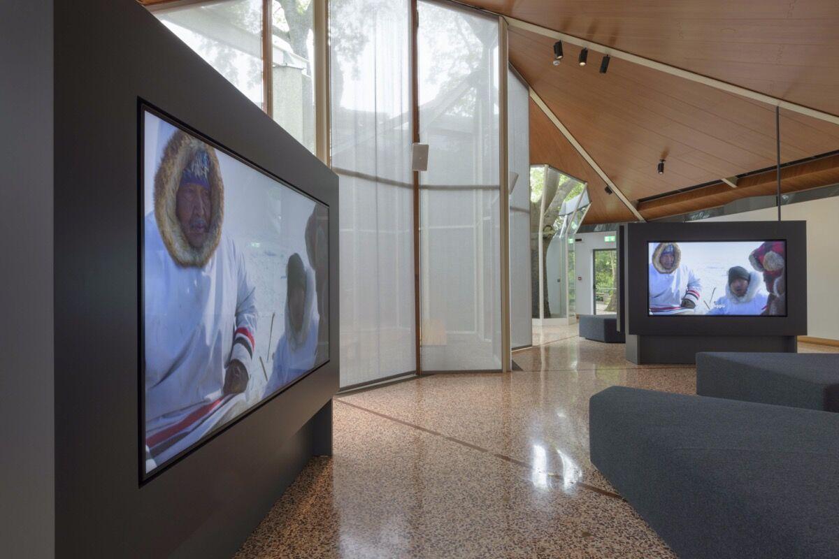 "Isuma, installation view at the Canada Pavilion for the ""58th International Art Exhibition - la Biennale di Venezia,"" 2019. Photo by Francesco Barasciutti. Courtesy of the National Gallery of Canada and Isuma Distribution International."