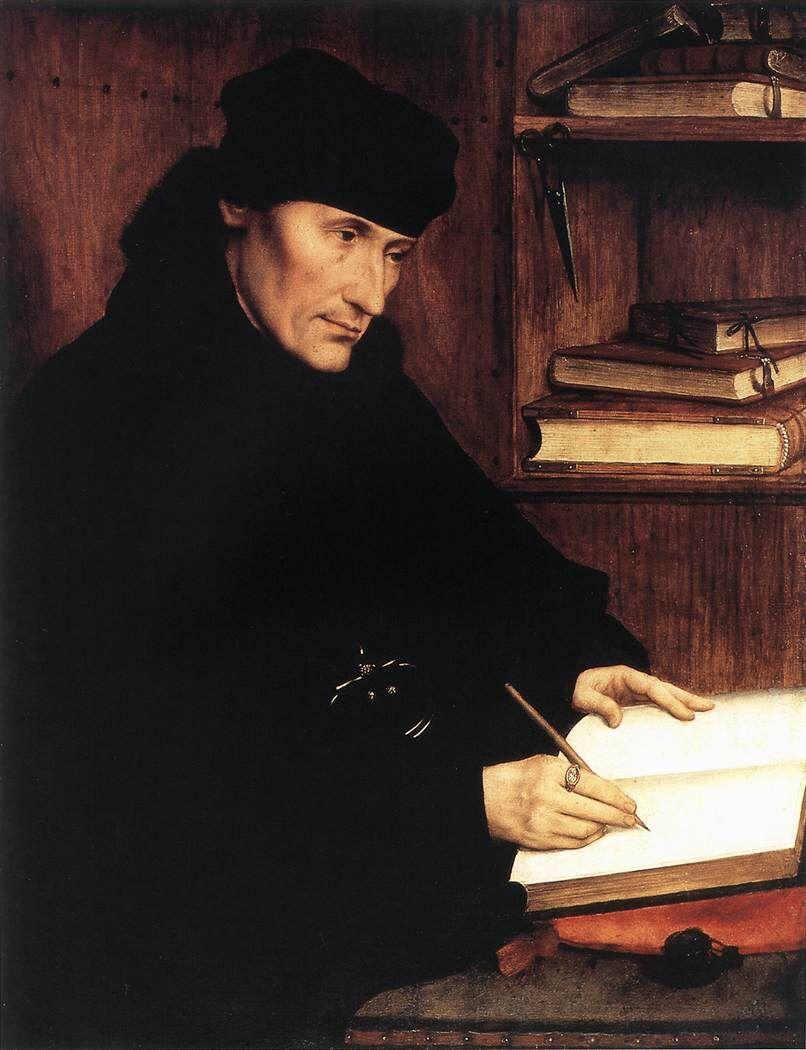 Quentin Massys, Erasmus of Rotterdam, 1517. Image via Wikimedia Commons.