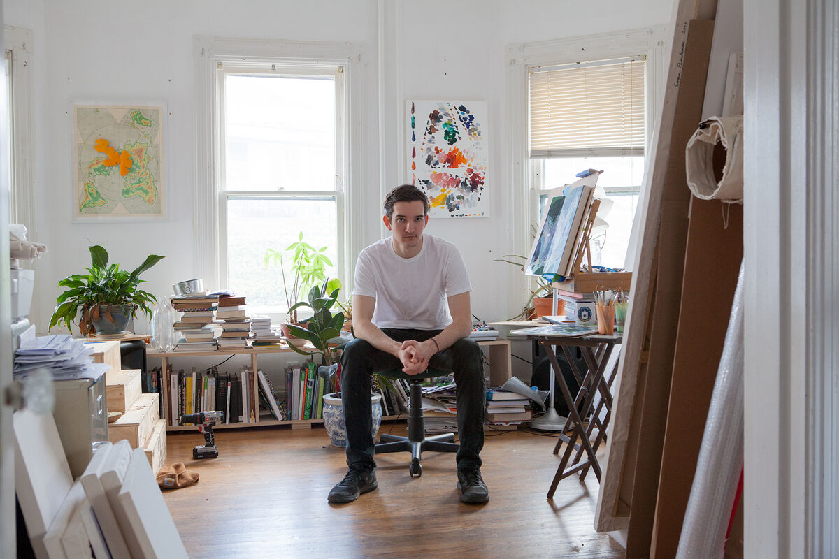 Portrait of Conor Backman in his studio. Courtesy of Conor Backman.