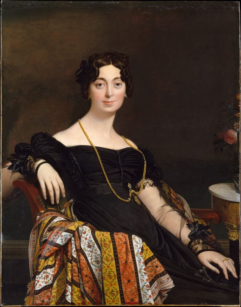 Jean Auguste Dominique Ingres, Madame Jacques-Louis Leblanc, 1823. Courtesy of the Metropolitan Museum of Art.