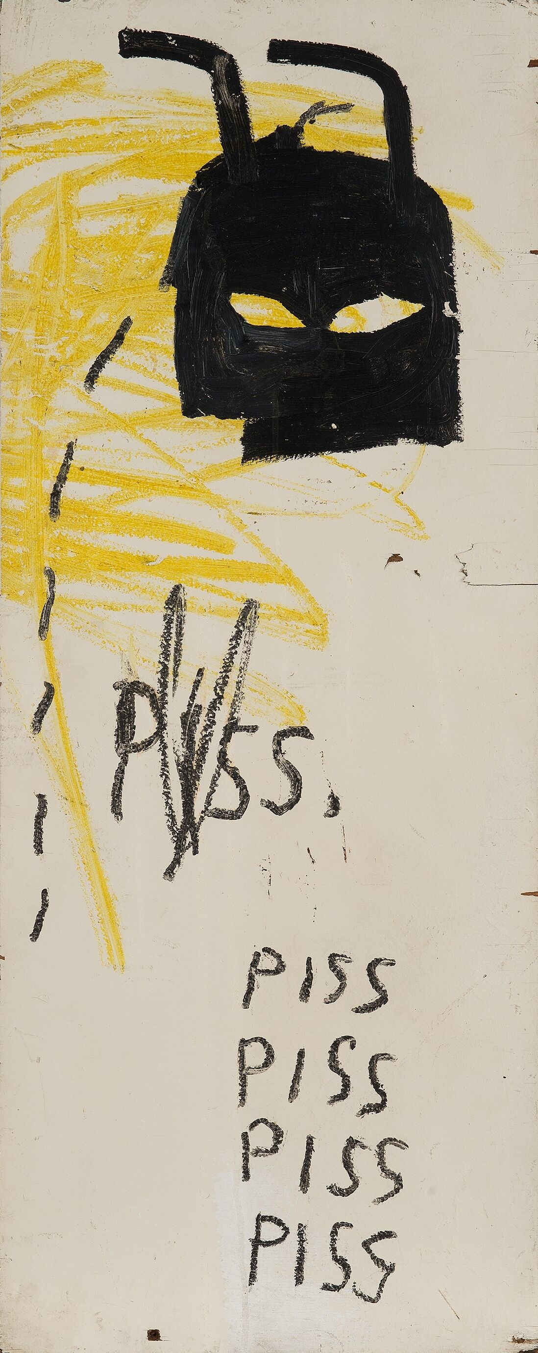 Jean-Michel Basquiat, Untitled (Piss Piss Piss Piss), 1982–1983. Courtesy of Phillips.