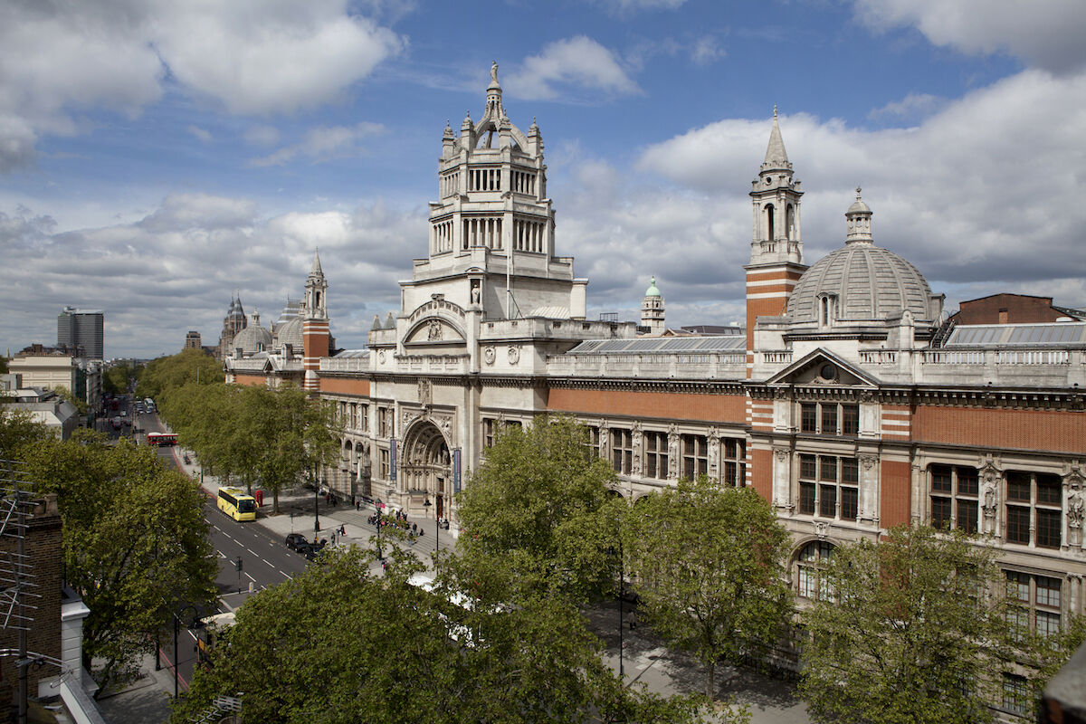 The main entrance to the Victoria and Albert Museum in London. Photo © Victoria and Albert Museum, London.