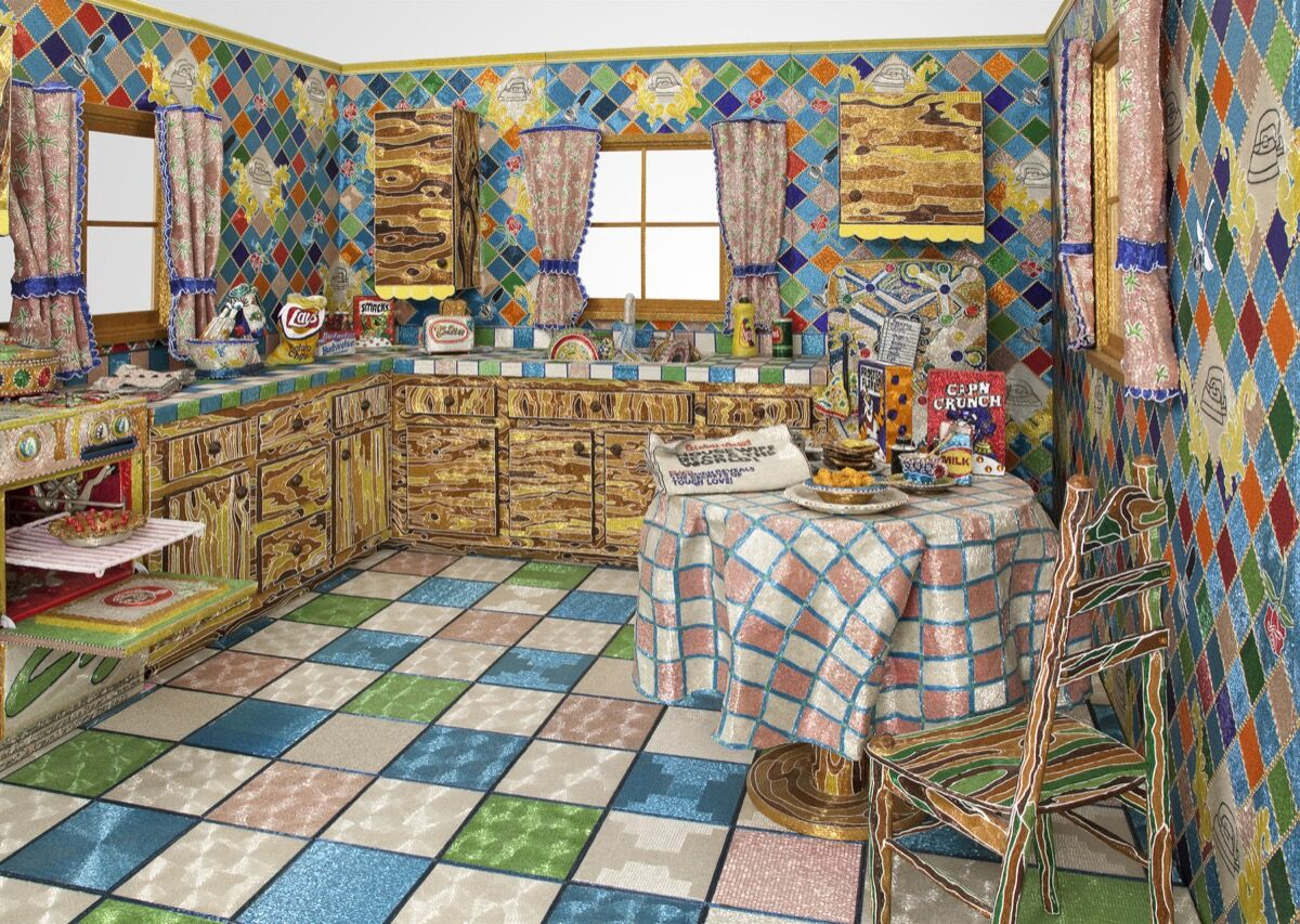 Liza Lou , Kitchen, 1991–96. Photo by Tom Powel. © Liza Lou. Courtesy of the Whitney Museum of American Art.