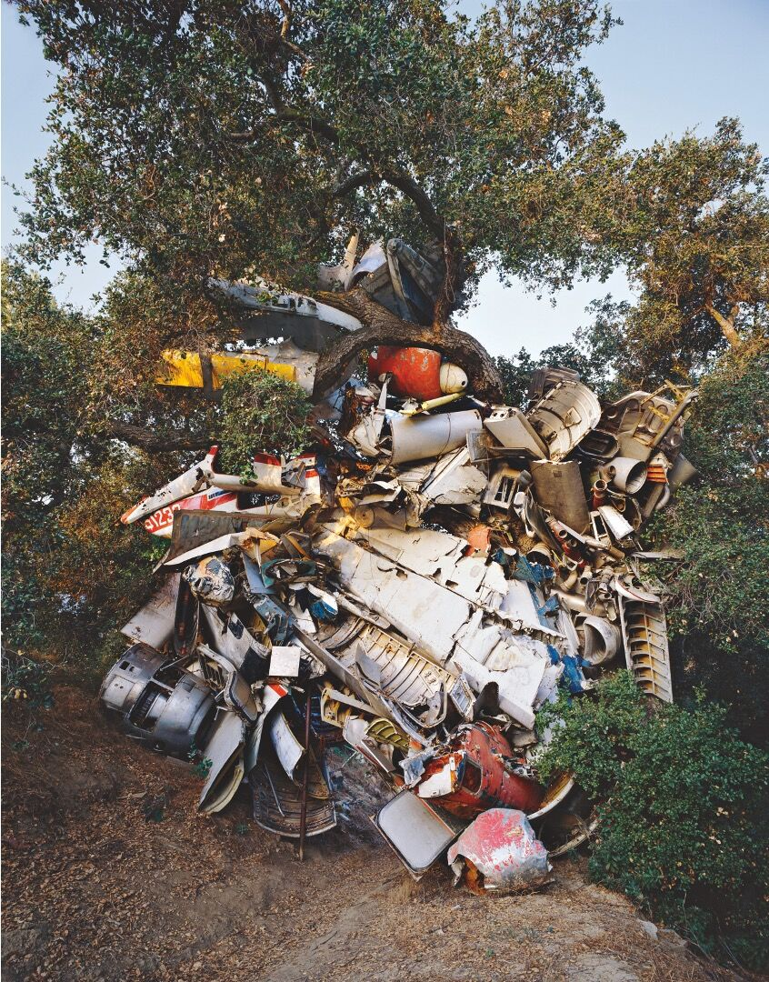 Nancy Rubins, Topanga Tree & Mr. Huffman's Airplane Parts, 1987-89. Courtesy of the artist.