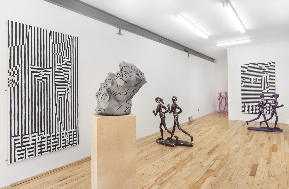 """Installation view of """"Cole Sayer: Wicked."""" Photo courtesy of the artist and JTT, New York."""