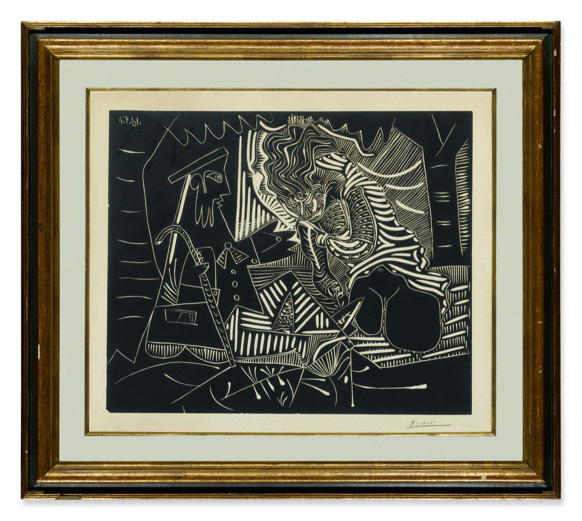 Pablo Picasso, Variation Sur Le Dejeuner Sur L'Herbe De Manet, n.d. Courtesy of Sotheby's.