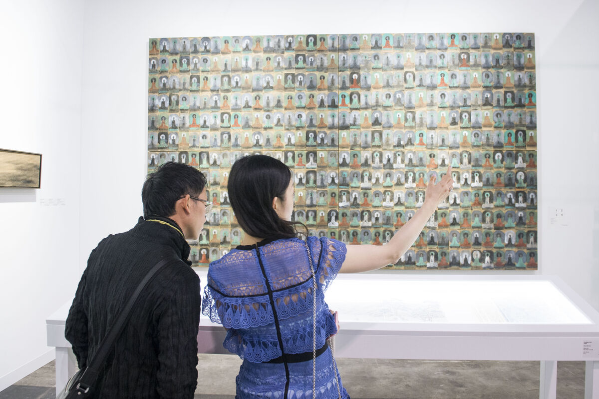 Installation view of Galerie Ora-Ora's booth at Art Basel in Hong Kong, 2016. Courtesy of the fair.