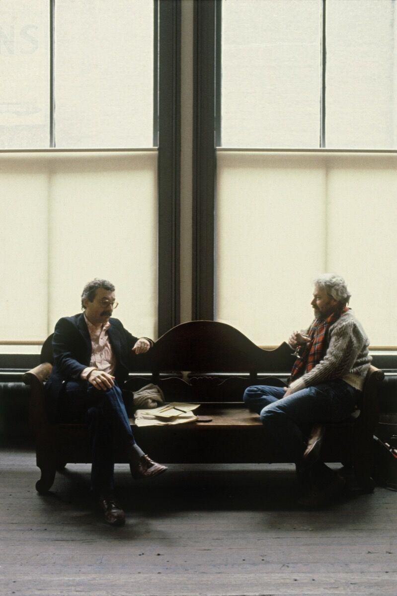 Gianfranco Verna and Donald Judd at 101 Spring Street, second floor, Judd Foundation, New York, 1984. Photo by Doris Lehni Quarella. © Antonio Monaci. Courtesy of the Judd Foundation.