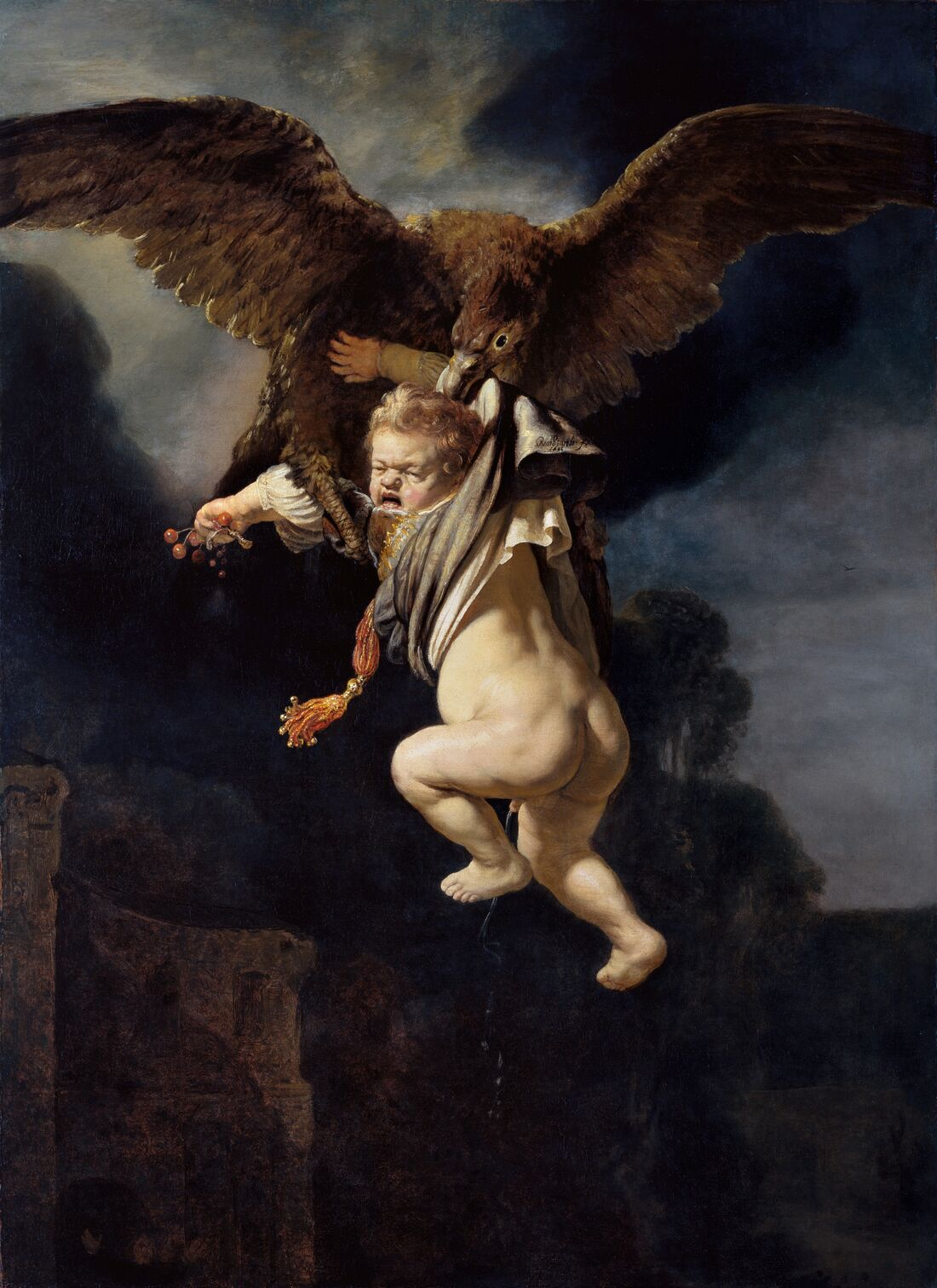 The Abduction of Ganymede', 1635, by Rembrandt van Rijn. Courtesy of Dresden State Art Collections.