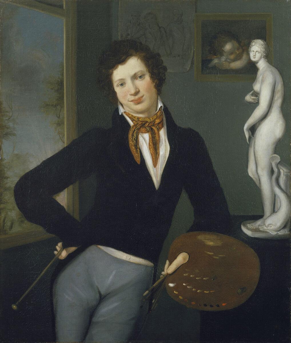 Moritz Daniel Oppenheim, Self-Portrait, 1814-16. Courtesy of the Jewish Museum.