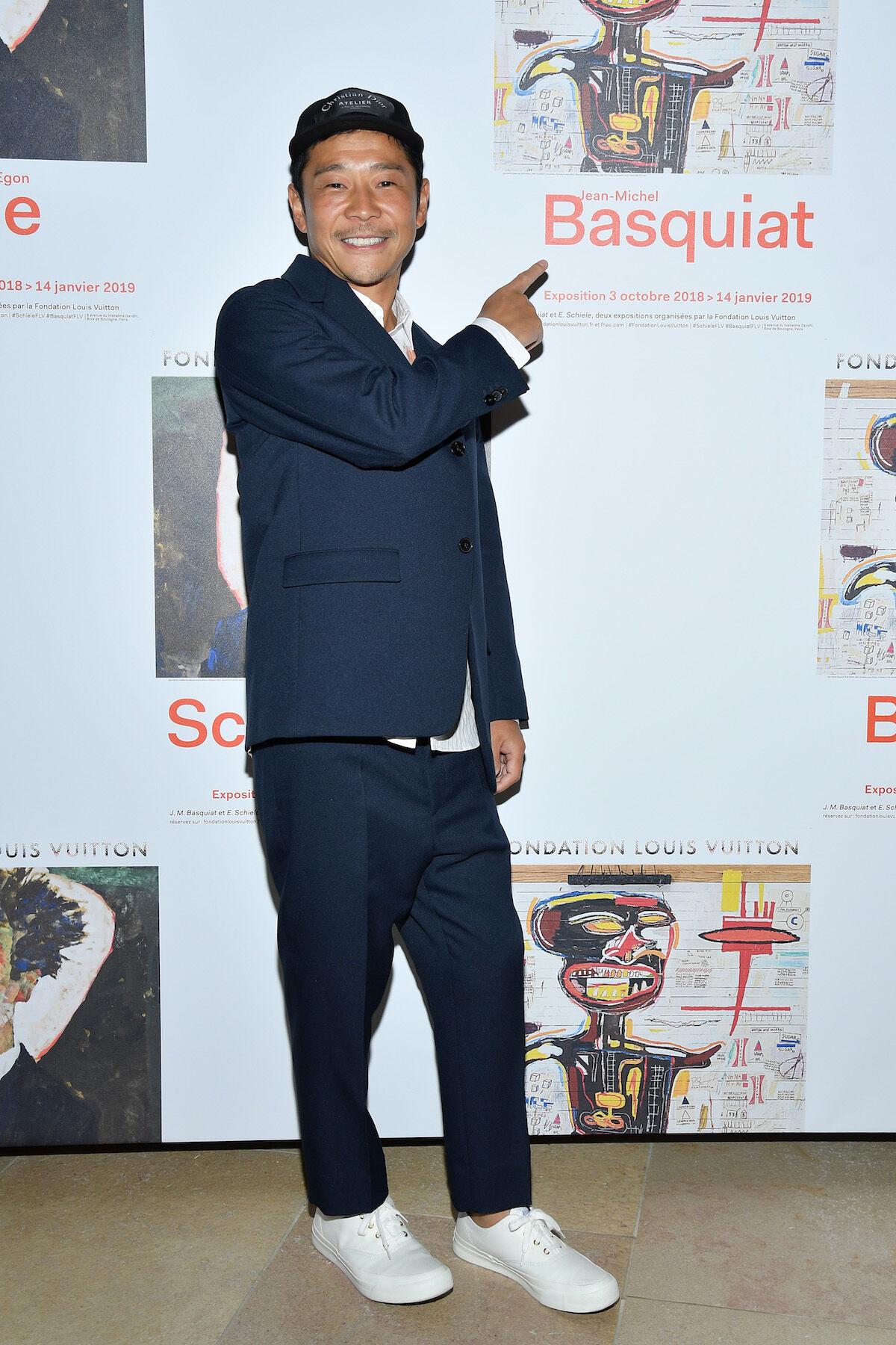 Yusaku Maezawa at the Louis Vuitton Foundation. Photo by Pascal Le Segretain/Getty Images.