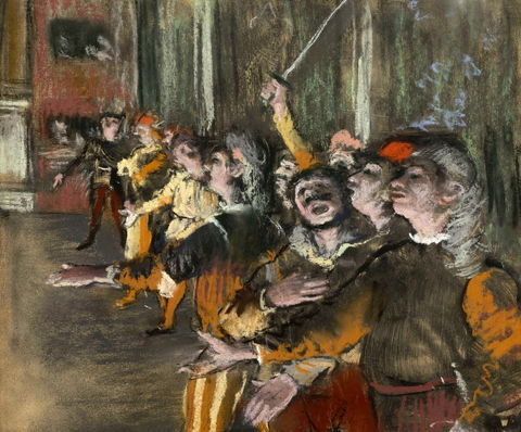 Edgar Degas, Les Choristes, 1877. Photo via Wikimedia Commons.