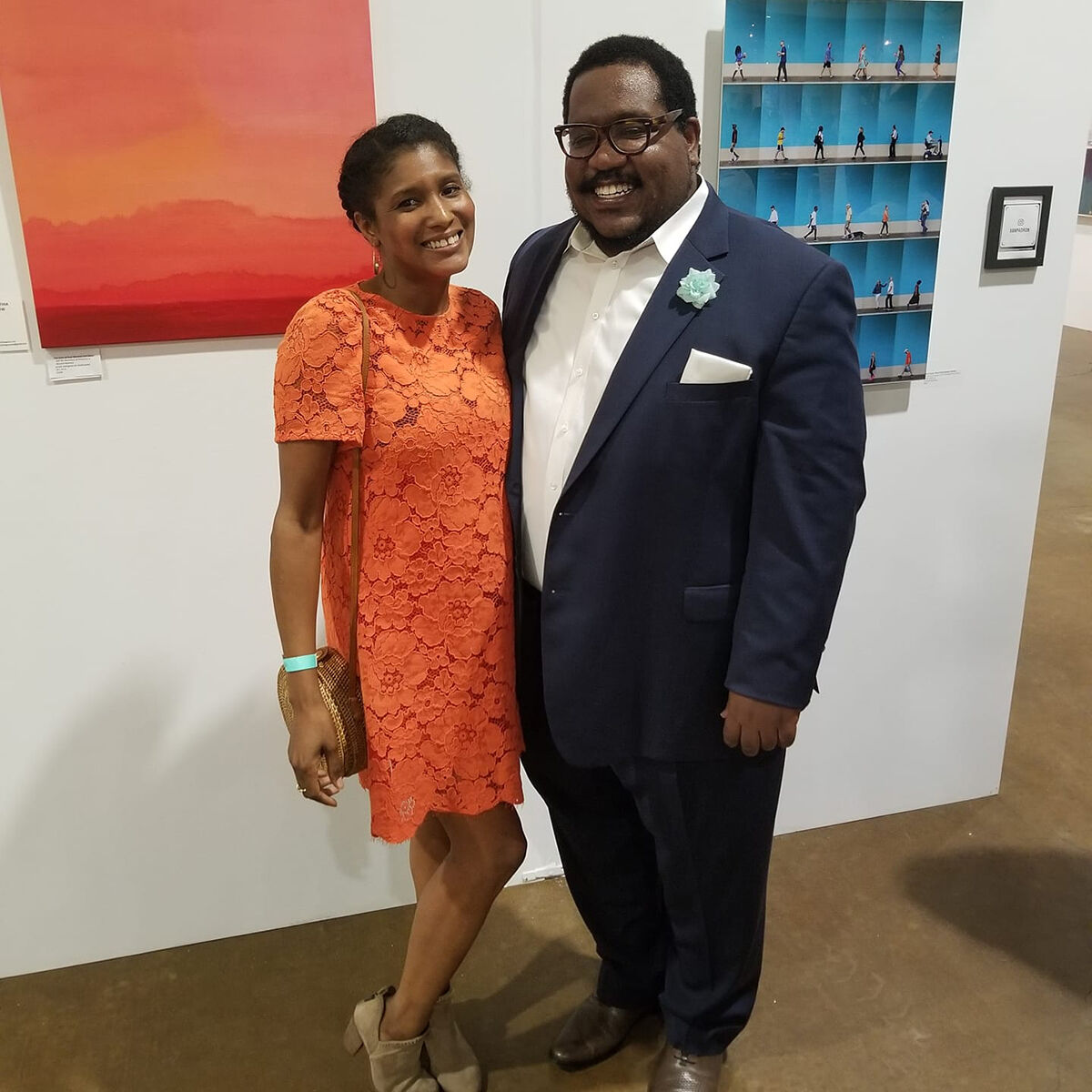Portrait of Maya Crawford and Darryl Ratcliff at The Other Art Fair, Dallas, 2019. Courtesy of Gossypion Investments.