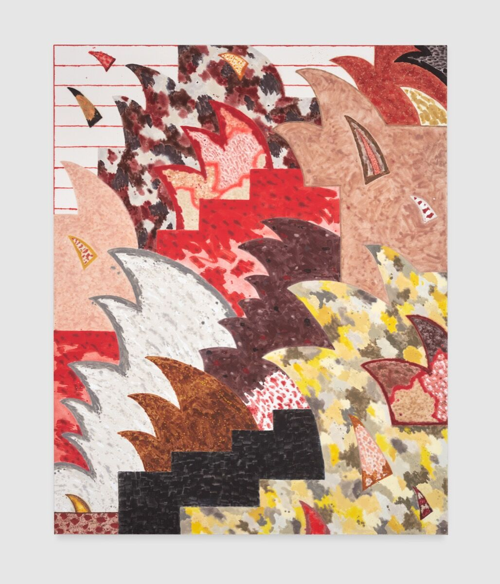 Rebecca Morris, Untitled (#04-18) at Bortolami, New York, 2018. Courtesy of the artist and Corbett vs. Dempsey.