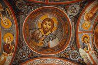 """Frescoes at """"The Dark Church"""""""