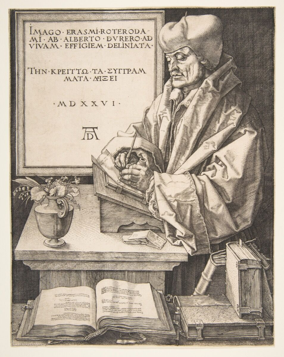 Albrecht Dürer, Erasmus of Rotterdam, 1526. Courtesy of the Metropolitan Museum of Art.
