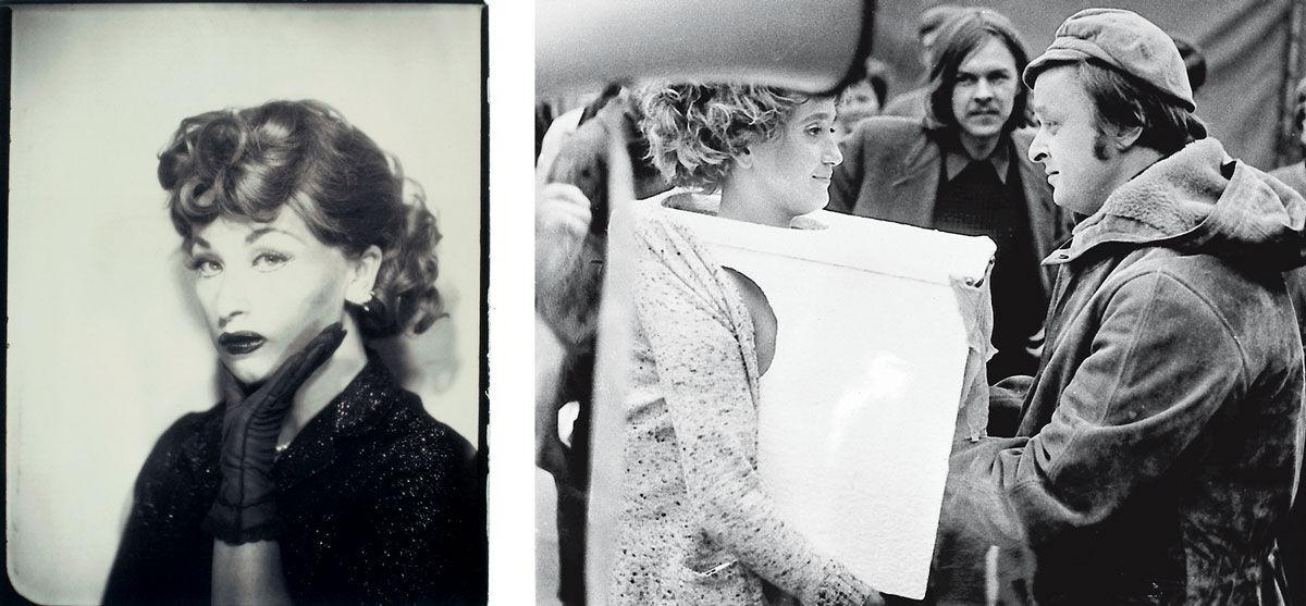 Left: Cindy Sherman, Untitled (Lucy), 1975/2001.© Cindy Sherman, courtesy of Metro Pictures, New York / SAMMLUNG VERBUND, Vienna. Right: Valie Export, Tapp und Tastkino, 1968.© Valie Export/ VG Bildkunst, Bonn 2015; courtesy of Galerie Charim, Vienna / SAMMLUNG VERBUND, Vienna.