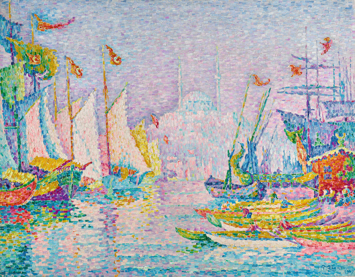 Paul Signac, La Corne d'Or. Matin, 1907. Est. £5 million–7 million ($6.5 million–9.1 million). Courtesy Sotheby's.