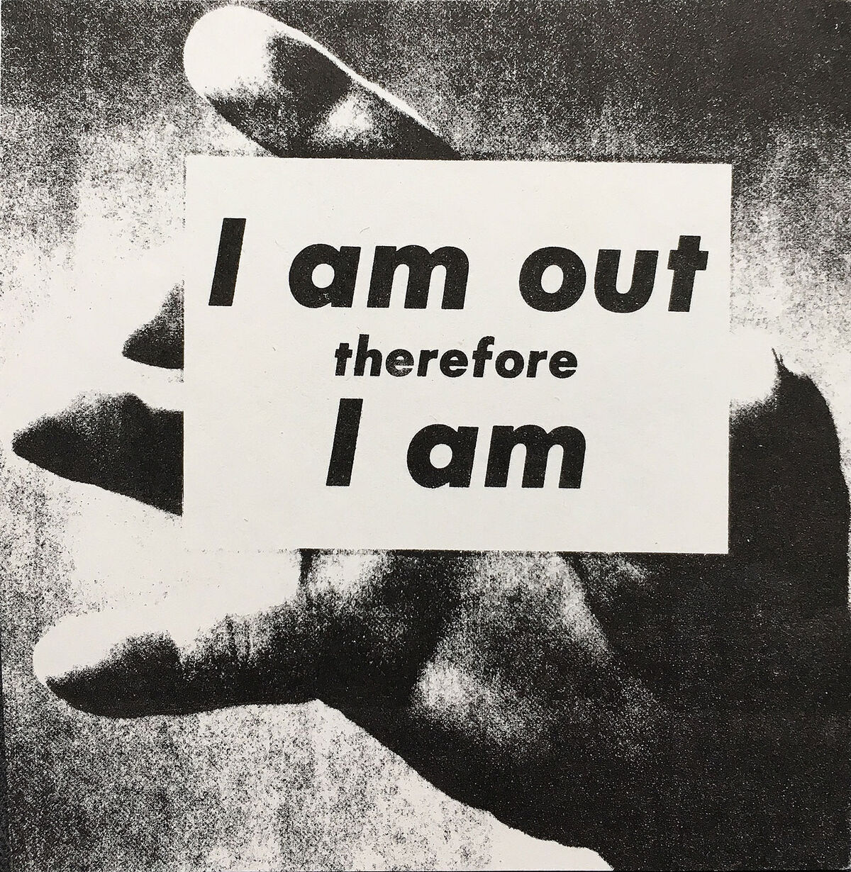 Adam Rolston, I Am Out Therefore I Am, 1989. © Adam Rolston. Courtesy of the artist.