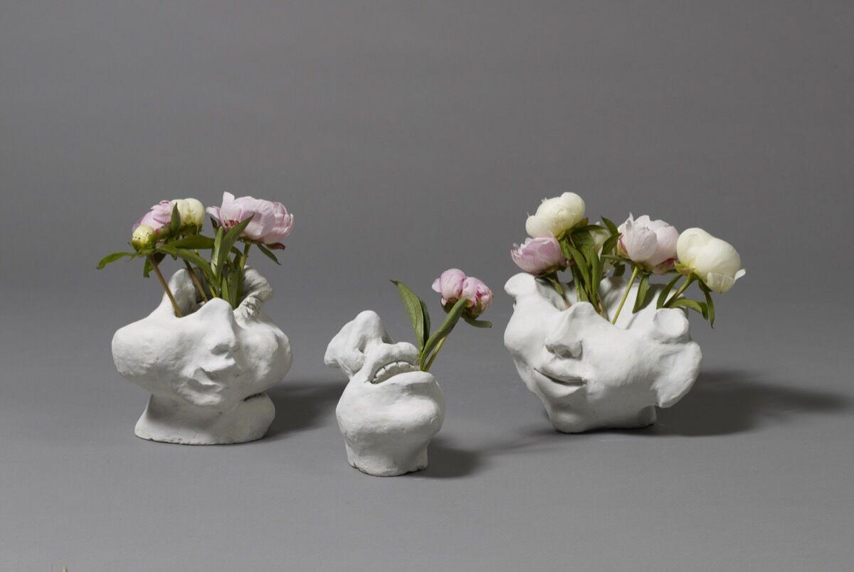 Alina Szapocznikow, Ceramika II (Ceramic II), Ceramika I (Ceramic I), and Ceramika III (Ceramic III), 1965. Courtesy of The Estate of Alina Szapocznikow / Piotr Stanislawski / Galerie Loevenbruck, Paris.