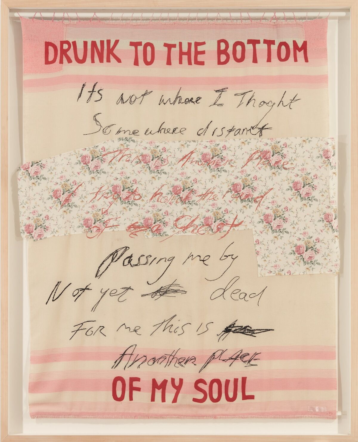 Tracey Emin, Drunk to the Bottom of my Soul, 2002. Est. £180,000–250,000. Courtesy Christie's Images Ltd.