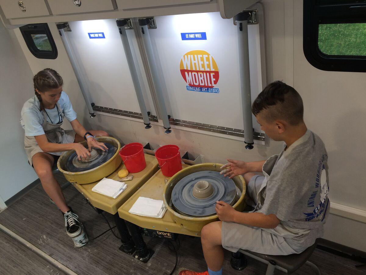 Community Creative Center's Wheel Mobile: Traveling Art Studio, Fayetteville, AR. Courtesy of Community Creative Center.