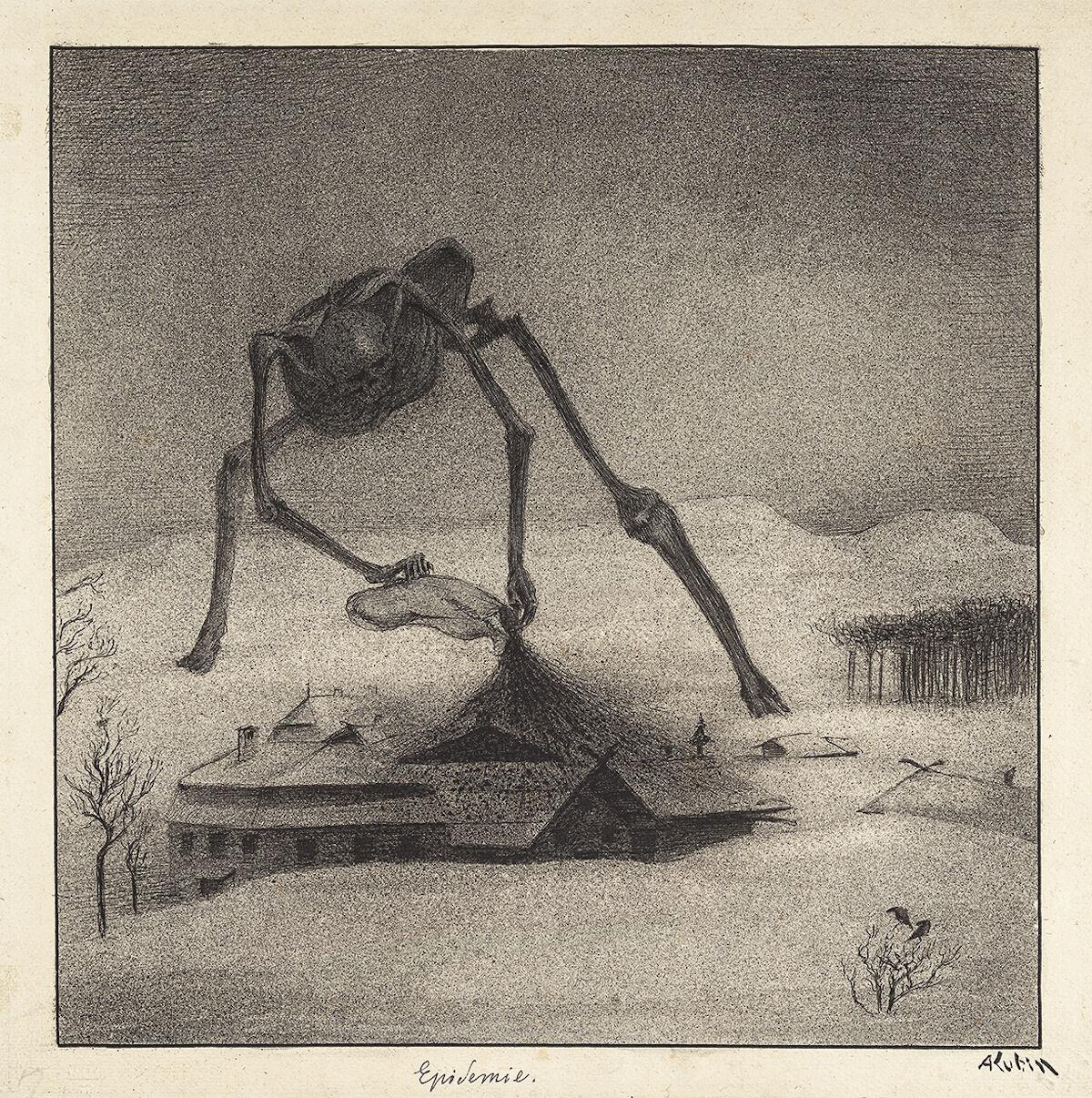Alfred Kubin, Epidemie (Epidemic), ca. 1900–01. Courtesy Sotheby's.