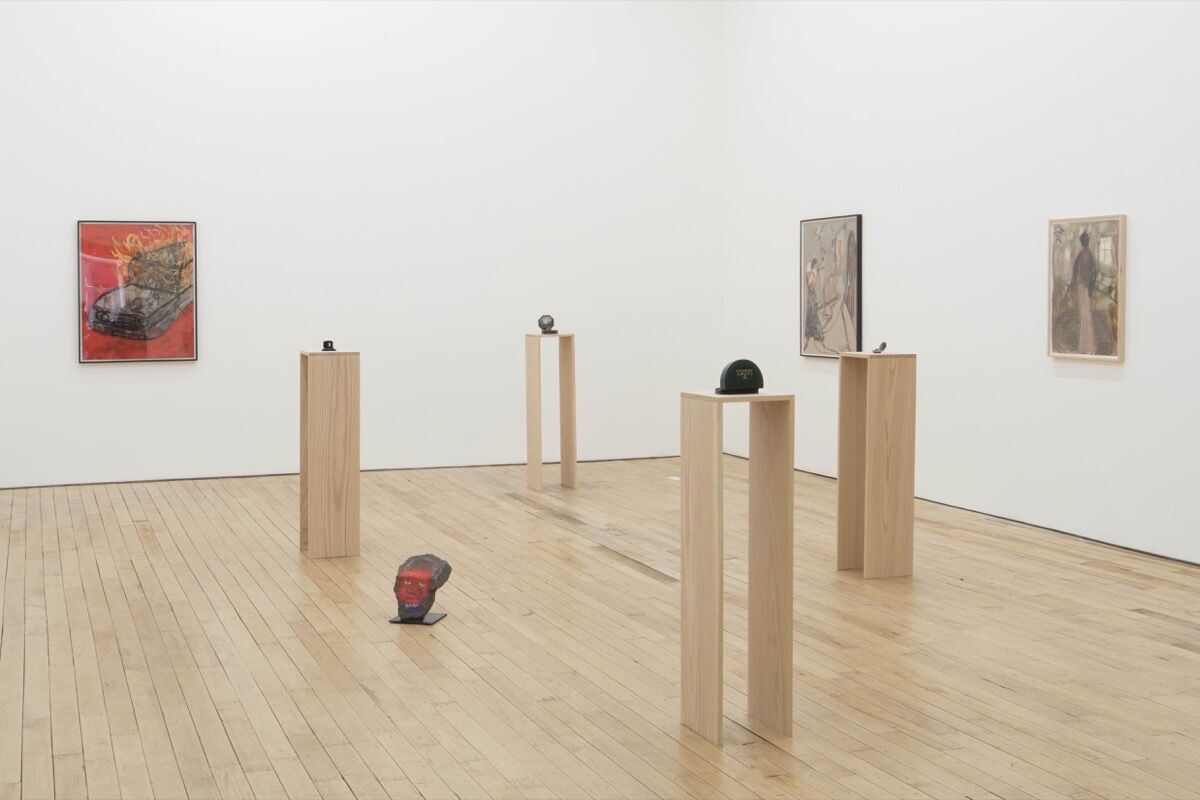 "Installation view of Curtis Talwst Santiago's ""Drawings and Miniatures,"" courtesy of Rachel Uffner Gallery."