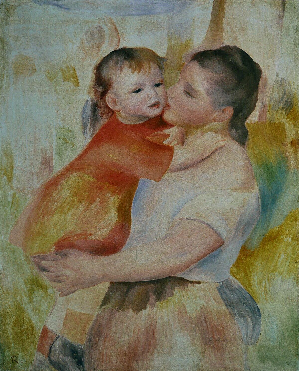 Pierre-Auguste Renoir, Washerwoman and Child, ca. 1887. Image via Wikimedia Commons.