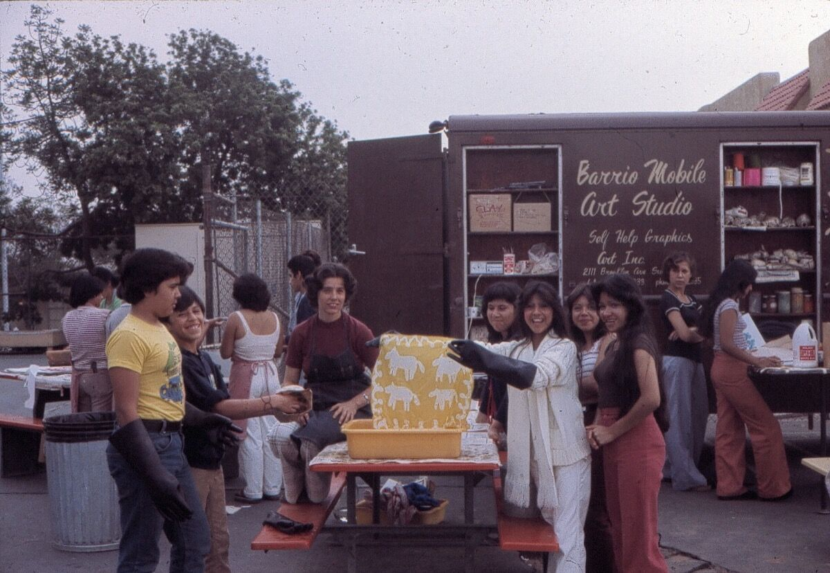 Barrio Mobile Art Studio, 1970s. Courtesy of Self Help Graphics & Art.