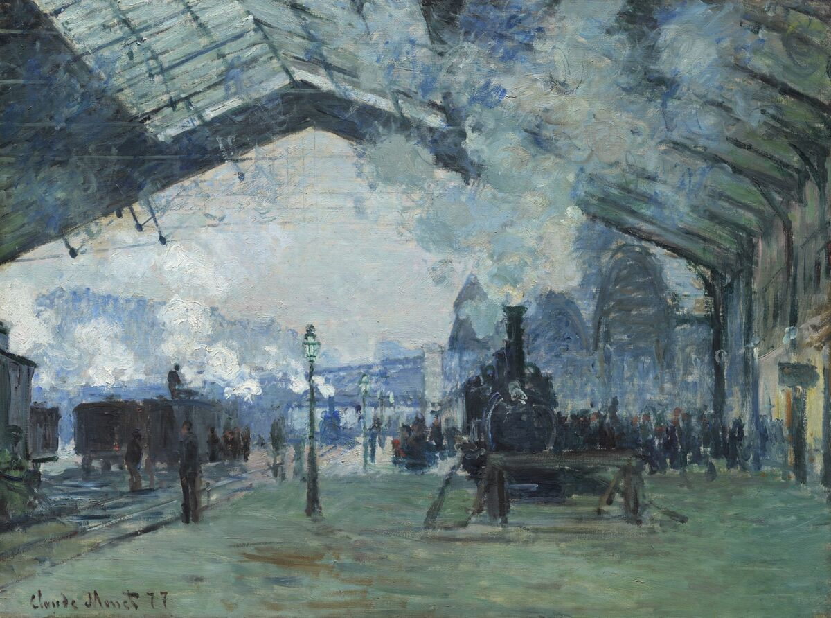 Claude Monet, Arrival of the Normandy Train, Gare Saint-Lazare, 1877. © Art Institute of Chicago / Art Resource, NY. Courtesy of the Art Gallery of Ontario.