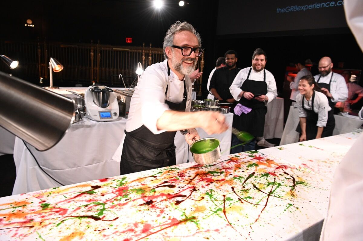Massimo Bottura attends Once Upon A Kitchen at Gotham Hall on December 5, 2018 in New York City. Photo by Dave Kotinsky/Getty Images For God's Love We Deliver.