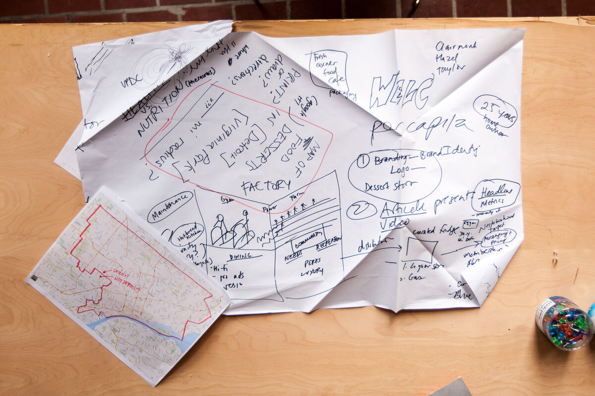 Notes left by a group of fellows at Ideas City Detroit. Photo by Marta Xochilt Perez for Artsy.