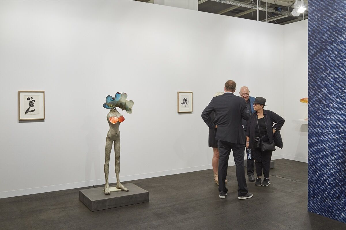 Installation view of Andrea Rosen's booth at Art Basel, 2016. Photo by Benjamin Westoby for Artsy.