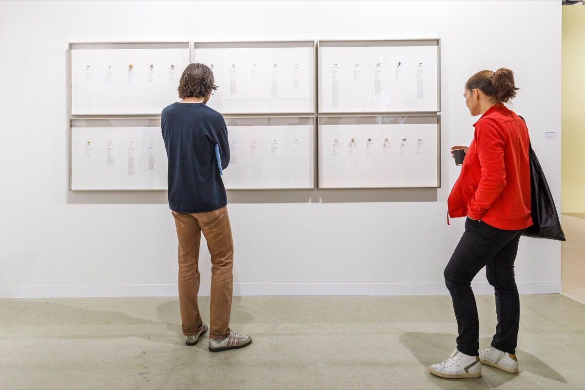 Installation view of Carlos/Ishikawa's booth at Art Basel, 2019. Courtesy of Art Basel.