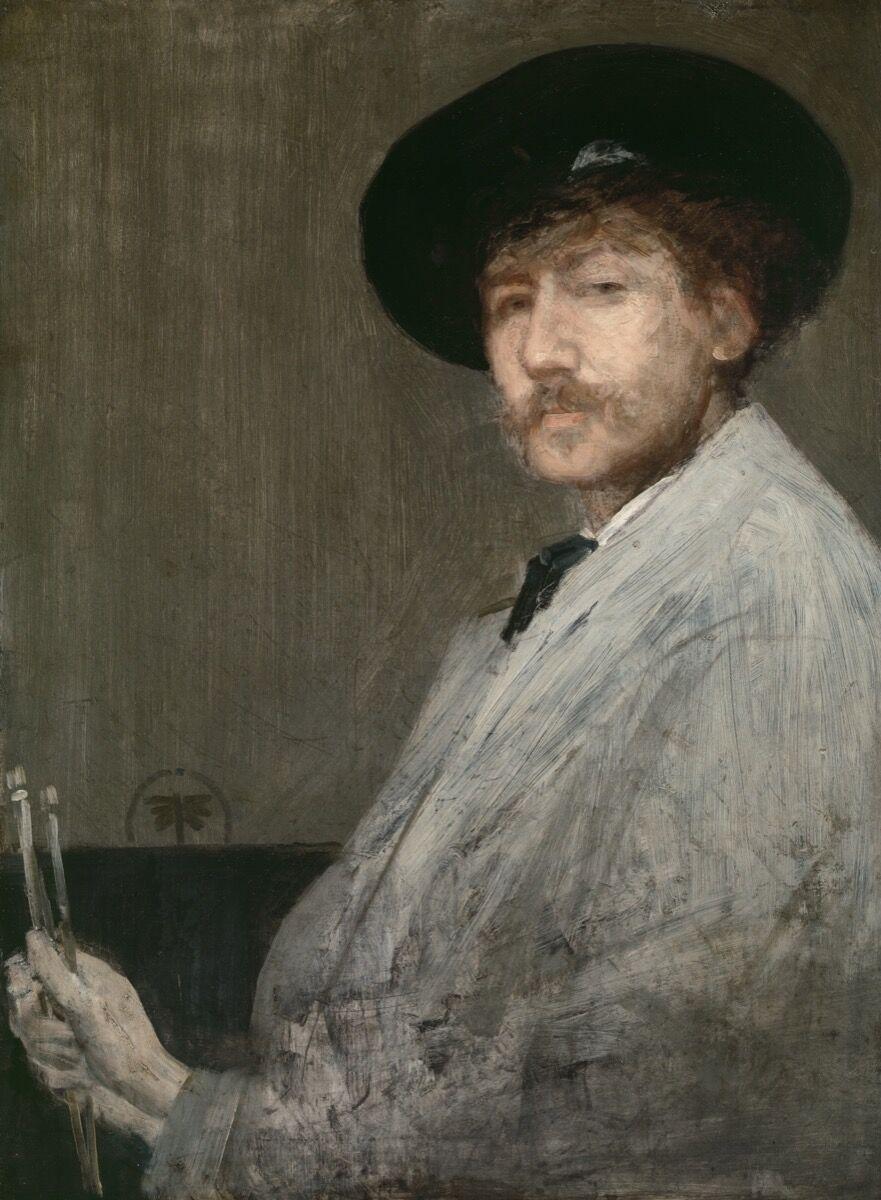 James Abbott McNeill Whistler, Arragement in Gray: Portrait of the Painter, 1872. Image via Wikimedia Commons.