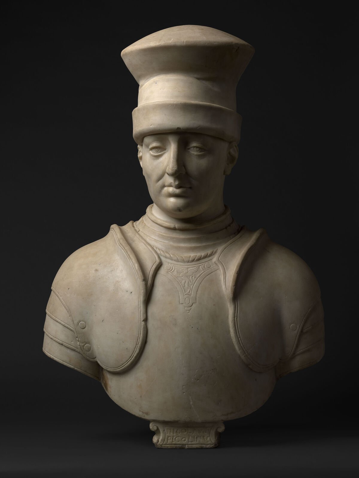Stoldo Lorenzi, Bust of Niccolò Piccinino, 1439/1442. Courtesy of Daniel Katz Ltd.