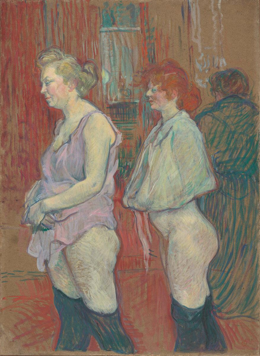 Henri de Toulouse-Lautrec, Rue des Moulins, 1894. Courtesy of the National Gallery of Art.