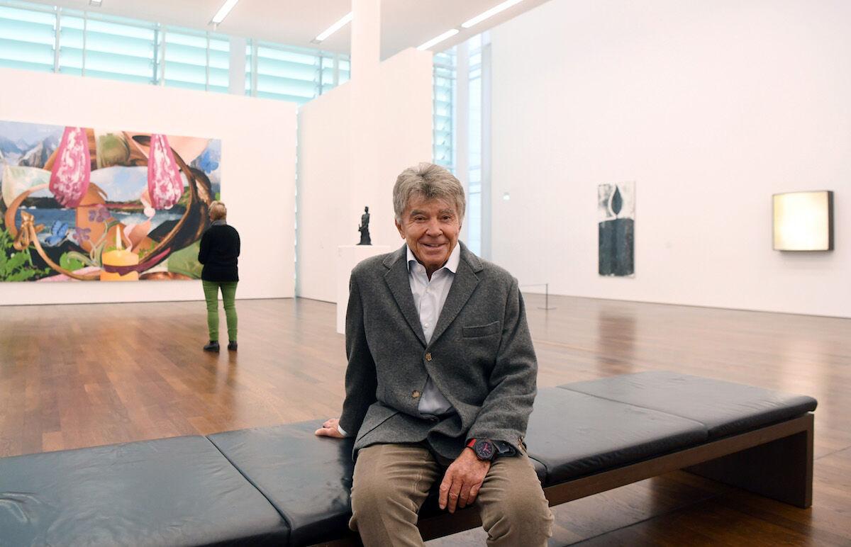 Frieder Burda in his museum in Baden-Baden. Photo by Uli Deck/picture alliance via Getty Images.