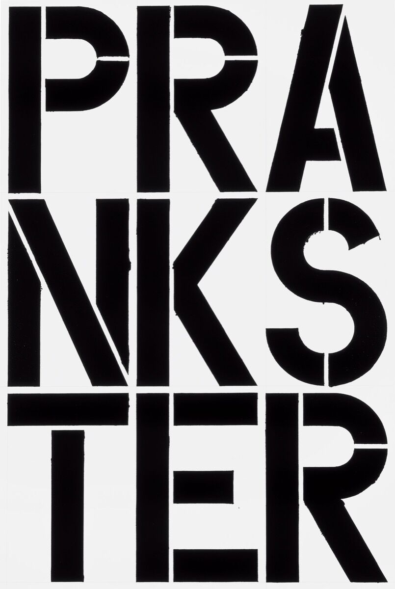 Christopher Wool, Untitled, 1989. © Christopher Wool. Courtesy of the artist and Luhring Augustine, New York.