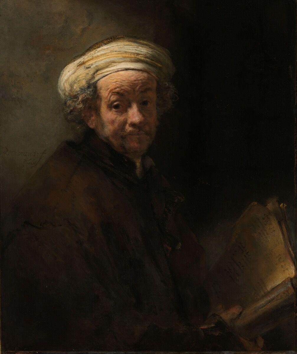 Rembrandt van Rijn, Self Portrait as the Apostle Paul, 1661. Courtesy of The Rijksmuseum.