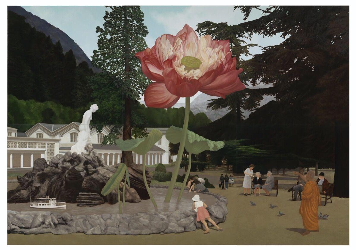 Natee Utarit, The Dream of Siamese Monks, 2020. Courtesy of the artist and Richard Koh Fine Art.