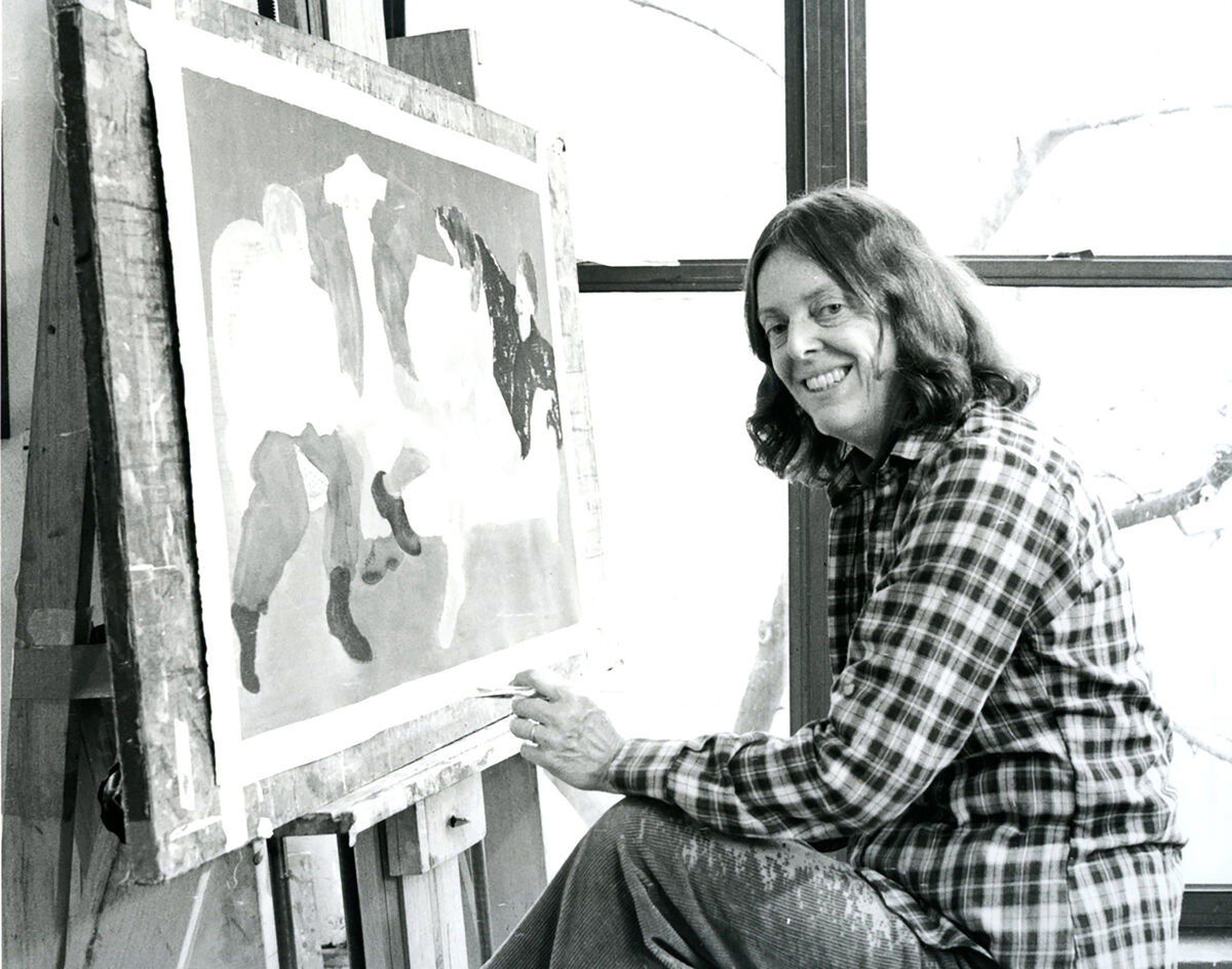 March Avery in the studio in 2004. Photo by Philip G. Cavanaugh.