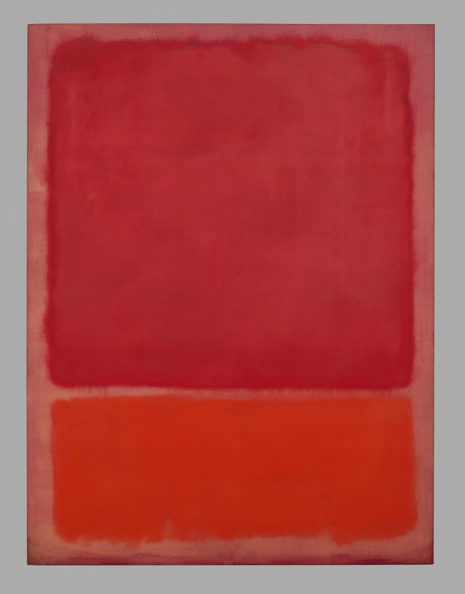 Mark Rothko, Untitled (Red, Orange), 1968. © 1998 Kate Rothko Prizel & Christopher Rothko / Bildrecht, Vienna, 2019. Photo © Robert Bayer / Fondation Beyeler, Riehen / Basel, Sammlung Beyeler.