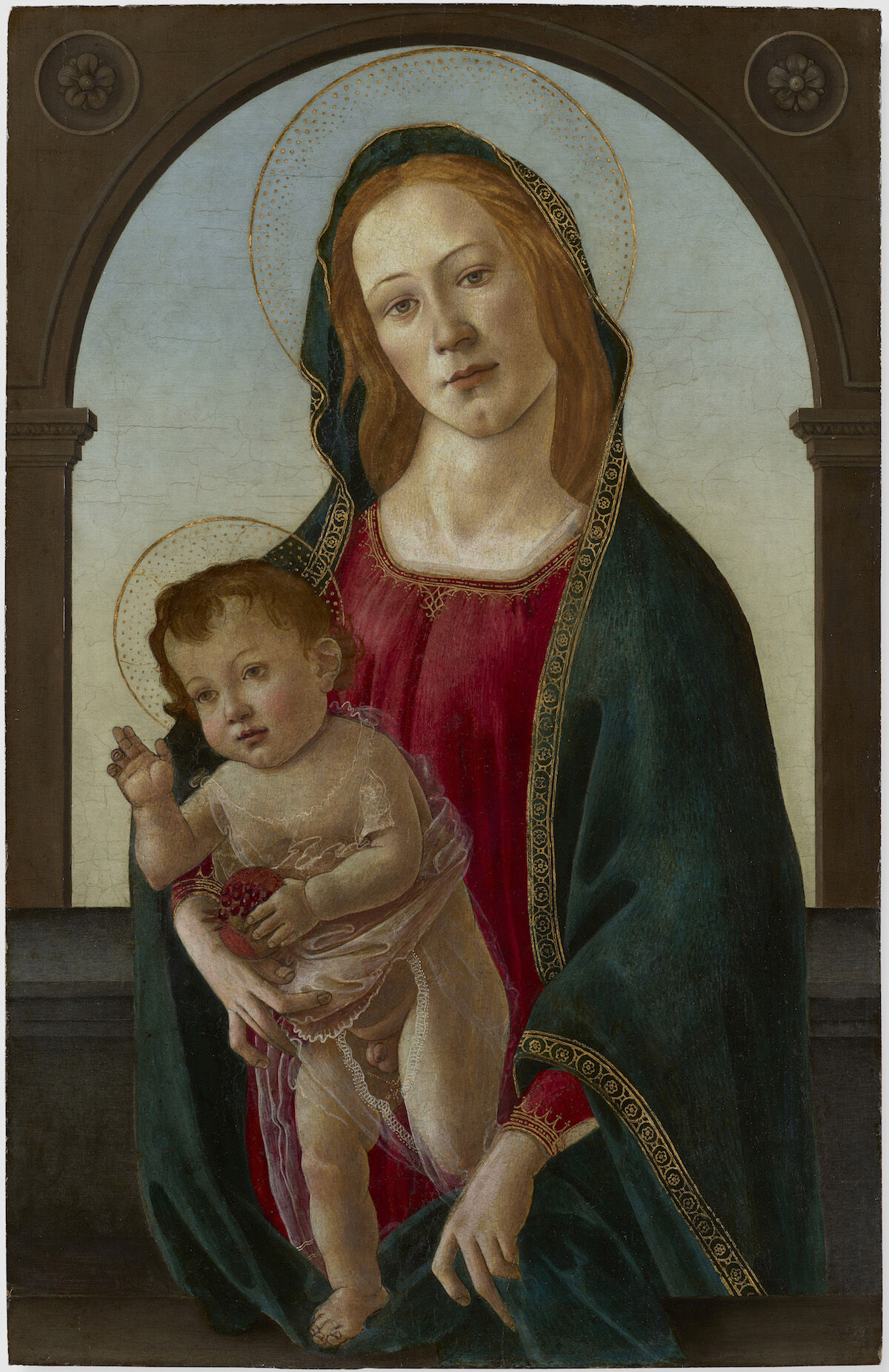 The Madonna and Child (1480s), a work now attributed in part to Botticelli. Courtesy National Museum Cardiff.